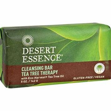 Desert Essence 1257906 Tea Tree Therapy Bar Soap, 5 oz