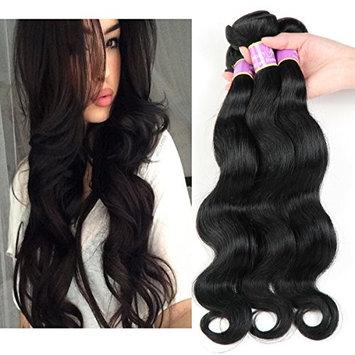 Beauty Youth Hair Brazilian Virgin Hair Body Wave 3 Bundles 7A Unprocessed Brazilian Virgin Human Hair Weave Extensions Natural Color 95-100g/pc (3pcs 22, Natural Color) ... : Beauty