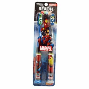 Marvel Comic's Iron Man and Spider Man Reach Kids' Toothbrushes (2pc)