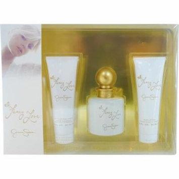 Fancy Love By Jessica Simpson Eau De Parfum Spray 3.4 Oz & Body Lotion 3 Oz & Shower Gel 3 Oz