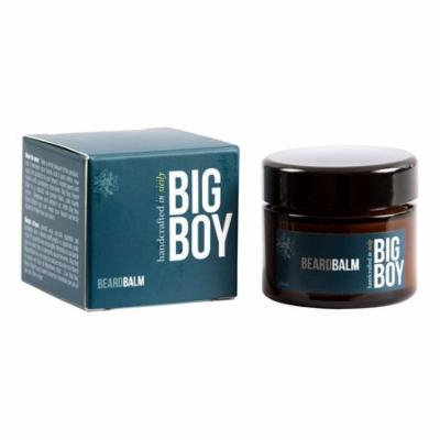 BIG BOY Beard Balm Leave-in Conditioner - All Natural - Shea Butter, Sweet Almond Oil, Beeswax - 50ml