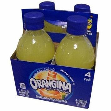 Orangina Sparkling Citrus Beverage with Pulp (4 Pack) 4 x 10 oz Bottles