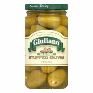 Giuliano Stuffed Almond Olives, 7 OZ (Pack of 6)