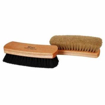 Professional Quality MAIN Shoe Shine Buffing Brush 100% Horse Hair Wood Handle