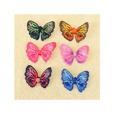 Hair Clips for Girls, Coxeer 6Pcs Hair Barrettes 3D Imitate Butterfly Hair Accessories for Toddler Kids