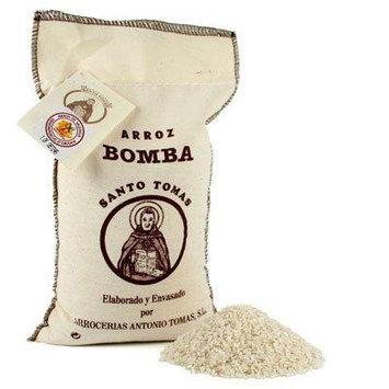 Santo Tomas Bomba Rice D.O. In Textile Bag - 2 kg.