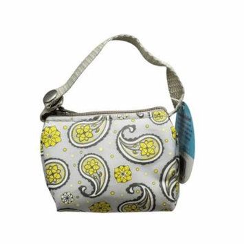 Paci Pouch Pacifier Holder - Grey & Yellow Flowers