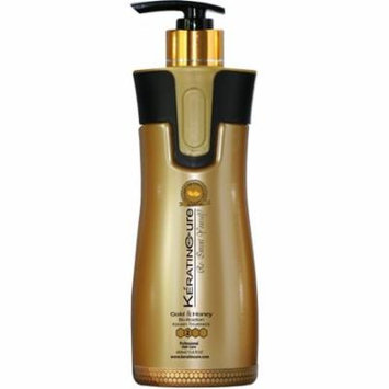 Keratin Cure Best Treatment Gold and Honey Bio 15 Ounces for Silky Soft Hair Formaldehyde Free Professional Complex with Argan Oil Nourishing Straightening Damaged Dry Frizzy Coarse Curly Wavy Hair