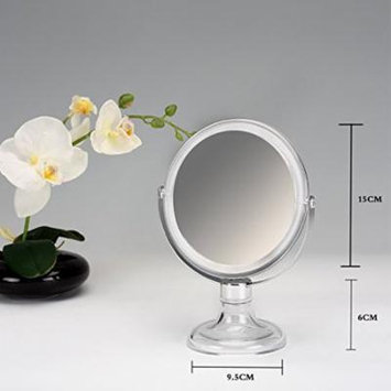 Beauty Acrylic Makeup Organizer Luxury Cosmetics Acrylic Clear Frame Stand Mirror