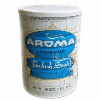 Turkish Style Ground Coffee (AROMA) (1 lb) 454g Can