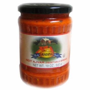 Ajvar Hot Vegetable Spread (gradina) 19.3oz