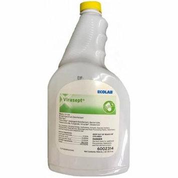 EcoLab Virasept Surface Disinfectant Cleaner, 32 oz Bottles - Case of 12