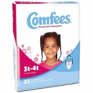 Comfees Premium Training Pants, Girls 3T-4T (32-40 Lbs) - Case of 138