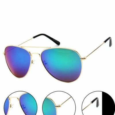 Classic Unisex Gold Aviator - Flash Green