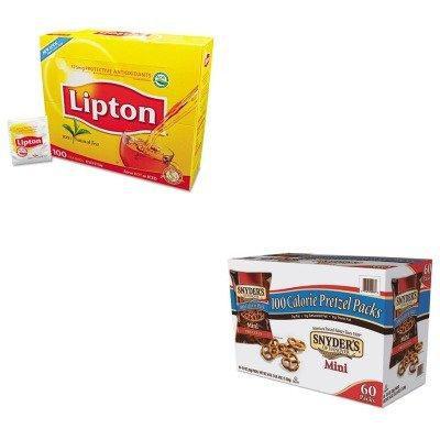 KITLIP291SNY827582 - Value Kit - Snyder's Mini Pretzels, Original (SNY827582) and Lipton Tea Bags (LIP291)