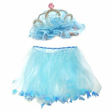 Wrapables® Little Girls Fairy Tiara Hair Clip and Tutu Set O/S, Blue