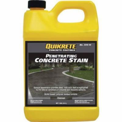 1 Gallon Quikrete Penetrating Concrete Stain - Charcoal