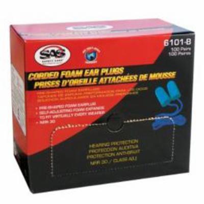 S A S SAFETY CORP CORDED FOAM EARPLUGS 100/BX