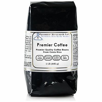 Premier Coffee, 1 lb, 100% Organic Whole Coffee Beans (Gently Roasted)