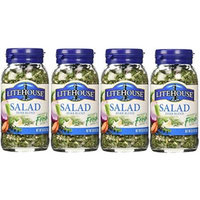 Litehouse Instantly Fresh Herbs, Salad Herb Pack of 4