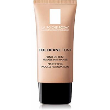 La Roche-Posay Toleriane Teint Foundation Makeup Mattifying Mousse for Oily Skin, Golden Beige, 1 Fl. Oz.