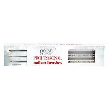 3 pc Gelish Nail Art Brushes Beautiful Rhinestone Handles