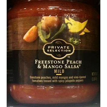 Private Selection Freestone Peach & Mango Salsa Mild 16 oz (Pack of 2)
