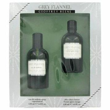 GREY FLANNEL by Geoffrey Beene,Gift Set -- 4 oz Eau De Toilette Spray + 4 oz After Shave, For Men