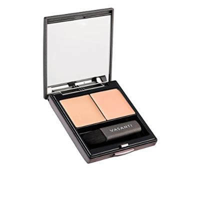 Vasanti Wonders of the World Colour Correcting Concealer Duo - Includes a colour corrector and a concealer with a mirror and mini concealer brush for even application (A2 - Peach)