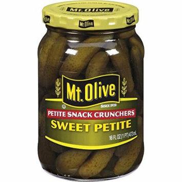 Mt. Olive Petite Snack Crunchers Sweet Petite Pickles, 16 FL OZ Jars (Pack of 3, Total of 48 Oz)