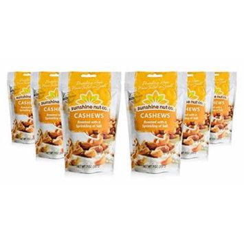 Sunshine Nut Company 'Sprinkling of Salt' Cashews, Peanut Free, Gluten Free, GMO Free, 7 oz, Pack of 6