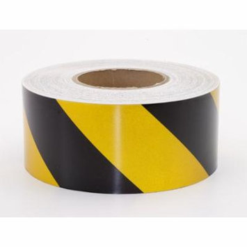 Reflective Hazard Stripe Adhesive Tape, 50 yds Length x 3