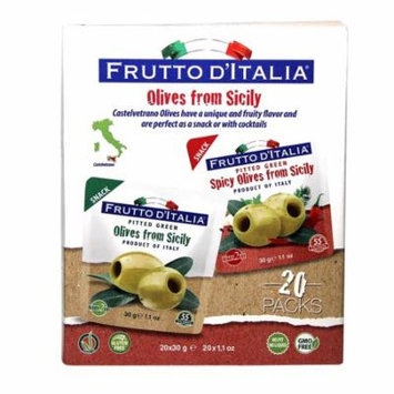 Frutto D'italia Snacking Olives (1.1 oz. ea., 20 ct.)