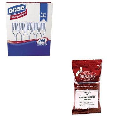 KITDXEFH207PCO25185 - Value Kit - Papanicholas Coffee Premium Coffee (PCO25185) and Dixie Plastic Cutlery (DXEFH207)