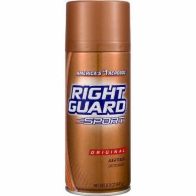 6 Pack Right Guard Sport Original Deodorant Aerosol 8.5 Oz Each