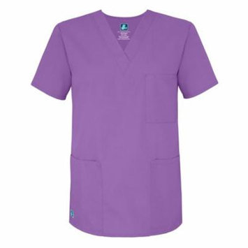 Adar Universal Unisex V-Neck Tunic Top 3 Pockets - 601 - Lavender - XL