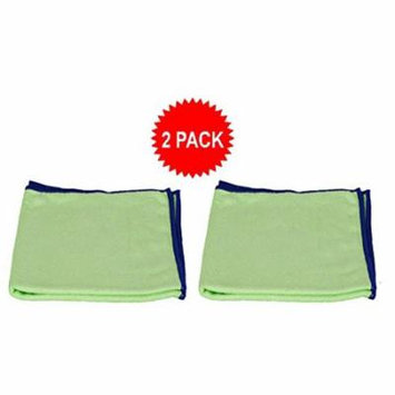 Starfiber Eco-friendly Green Miracle Cleaning Cloth for Kitchen Bathroom and Home (2 Pack)