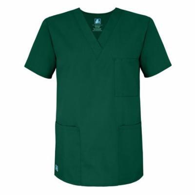 Adar Universal Unisex V-Neck Tunic Top 3 Pockets - 601 - Hunter Green - M