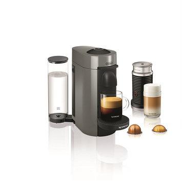 Nestle DELENV150GYAE Nespresso VertuoPlus Coffee and Espresso Maker by De'Longhi with Aeroccino, Grey