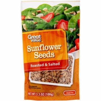 Great Value Roasted & Salted Sunflower Seeds, 3.5 oz