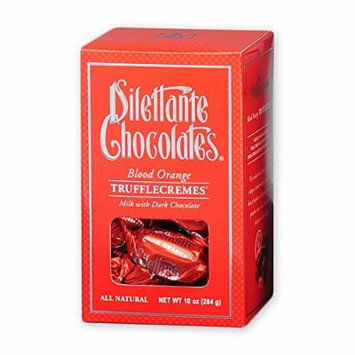 Blood Orange TruffleCremes in Milk & Dark Chocolate - 10 oz Gift Box - by Dilettante (3 Pack)