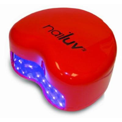 Nailuv Red Heart Shaped Battery Operated 2 Watts 18 Bulb LED Nail Dryer