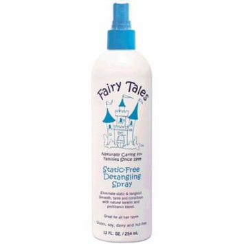 Fairy Tales Static-Free Detangling Spray 12 oz (Pack of 4)