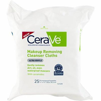 3 Pack - CeraVe Makeup Removing Cleanser Cloths, 25 Count Each