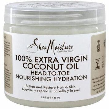 Shea Moisture 100% Extra Virgin Coconut Oil 15 oz (Pack of 6)