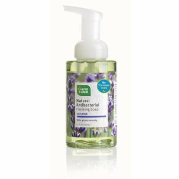 CleanWell Antibacterial Foaming Hand Soap, Lavender 9.5 oz (Pack of 2)