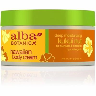Alba Botanica BodyCream, Kukui Nut 6.5 oz (Pack of 4)