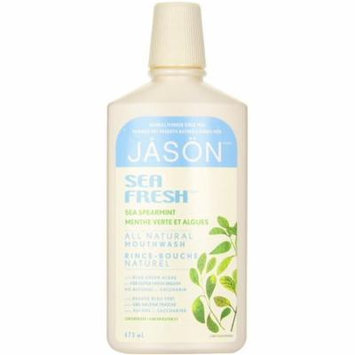 Jason Sea Fresh Active Mouthwash, Sea Spearmint 16 oz (Pack of 6)