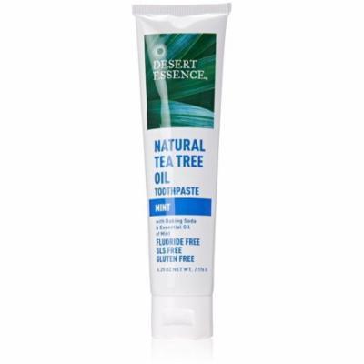 Desert Essence Natural Tea Tree Oil Toothpaste, Mint 6.25 oz (Pack of 4)
