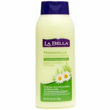 La Bella Manzanilla Conditioning Shampoo, 25.4 oz (Pack of 4)